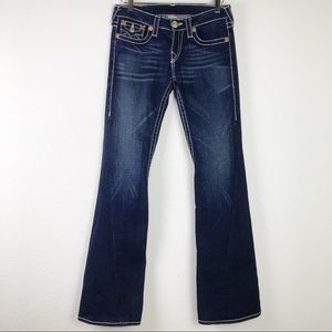 True Religion Joey Big T Whiskered Flare Jeans 28